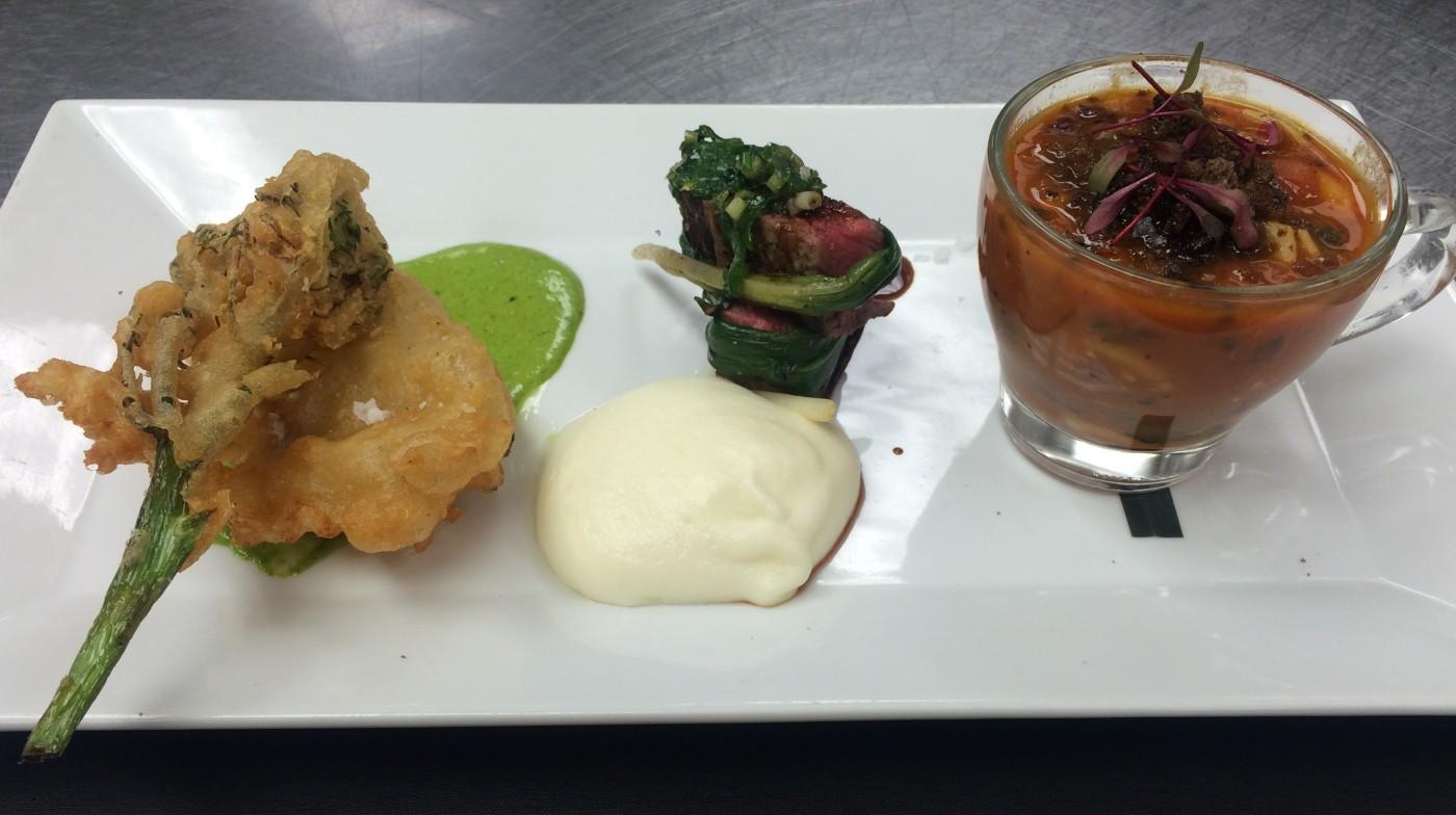 tempura, steak, ribollitta